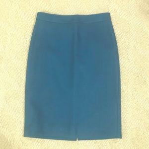 J Crew original No. 2 pencil skirt in turquoise